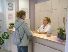 recepción clínica Sanares